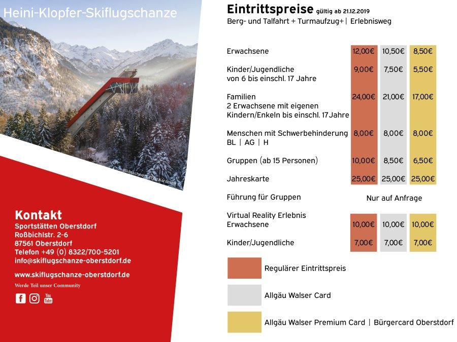 Preisinfo Skidata Terminal - Winter 2020
