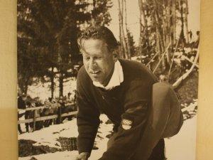 Heini Klopfer mit seiner Schanze