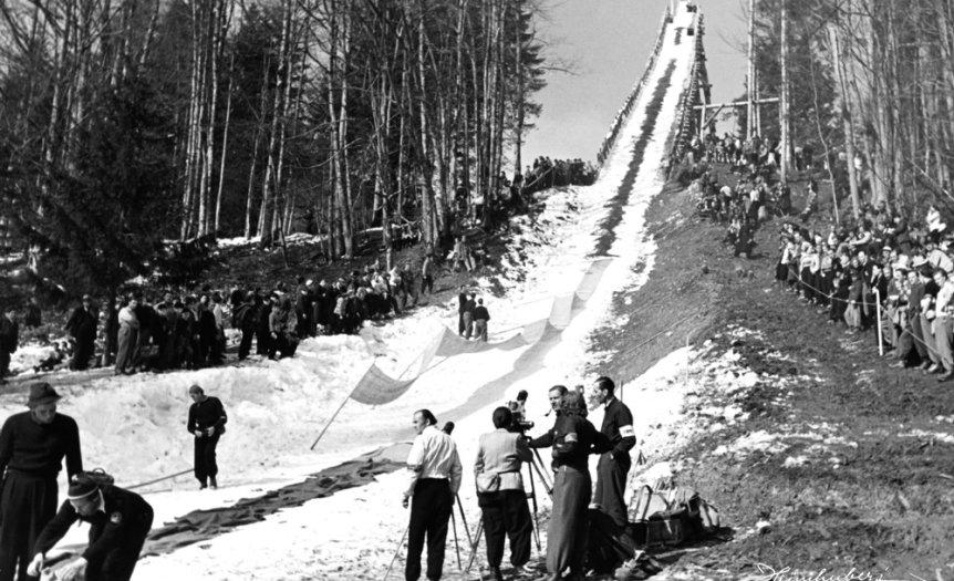 Vorbereitungen an der Schanze 1950