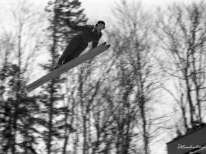 Sepp Weiler im Sprung 1952
