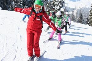 Spaß im Skikurs