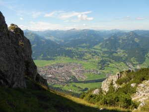 Blick hinunter nach Obertdorf