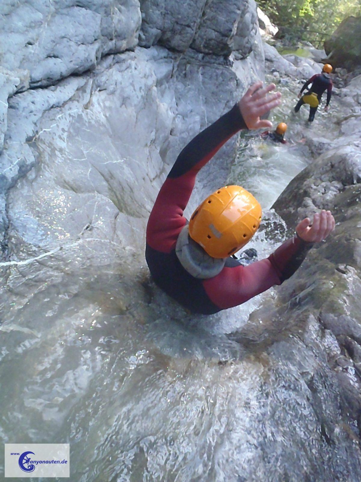 Canyoning Rutsche