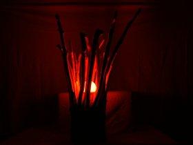 LED Treibholz Stehlampe