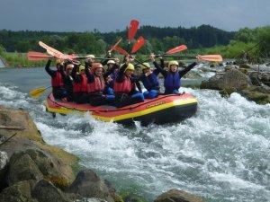 Rafting alle in einem Boot