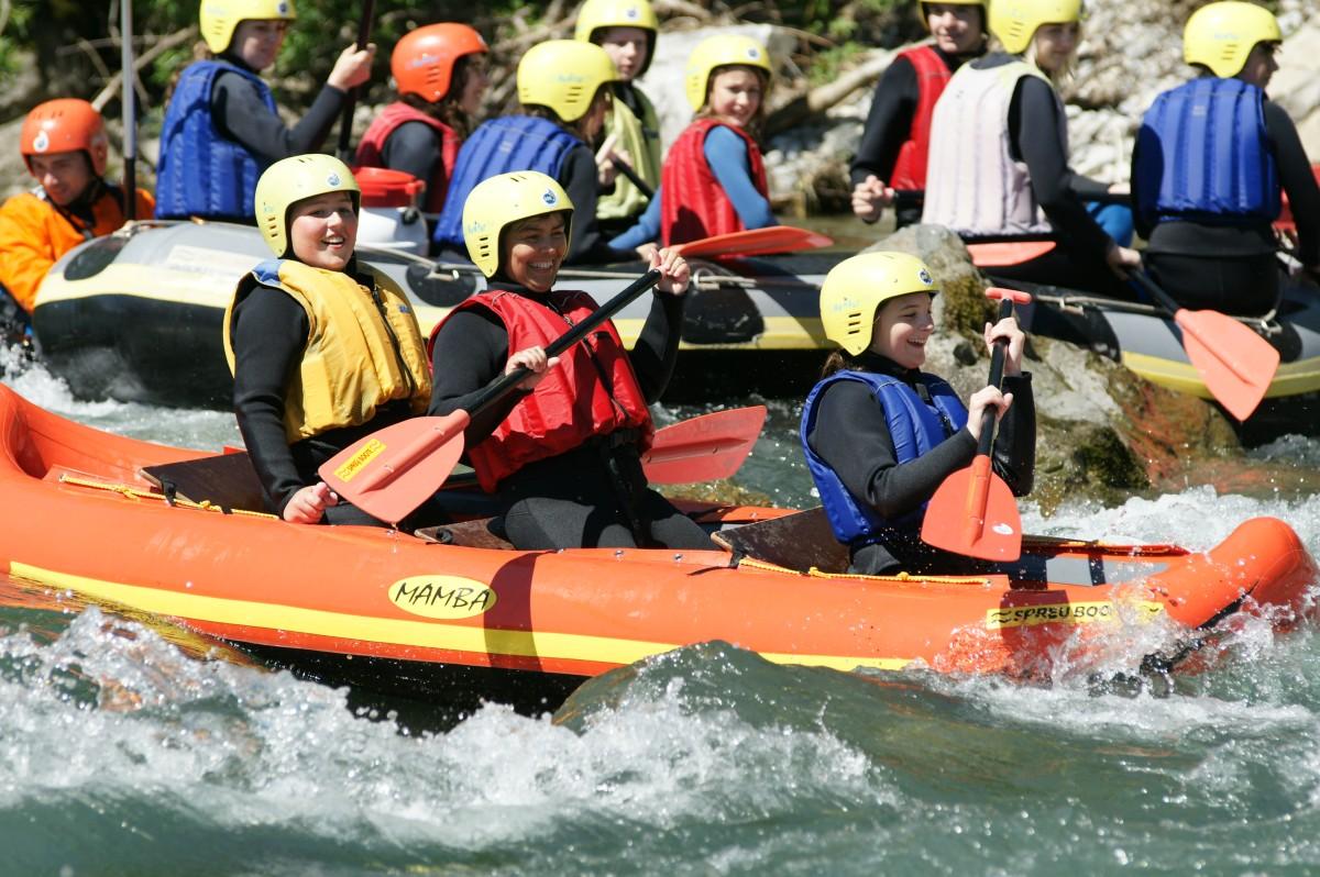 Canadier-Rafting Iller