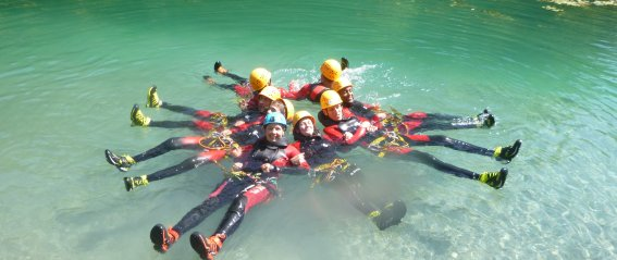 Badespass beim Canyoning