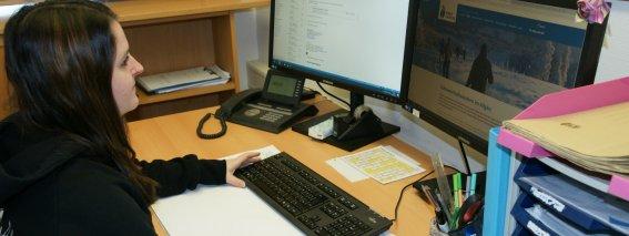 Jasmin Arbeitsplatz