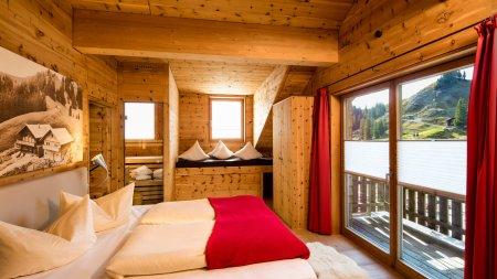 Ausblick aus dem Schlafzimmer - Sportheim Böck Lodge Alpspitze