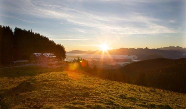 Abend Dämmerung an der Alpspitze in Nesselwang