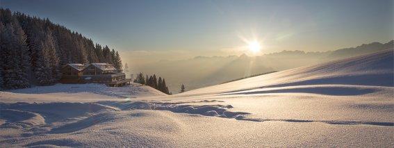 Die Alpspitze im Winter - Urlaub am Sportheim Böck