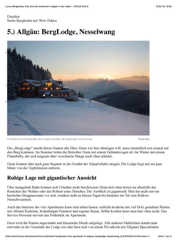 Luxus-Berghotels: Das sind die schönsten Lodges in den Alpen - FOCUS Online