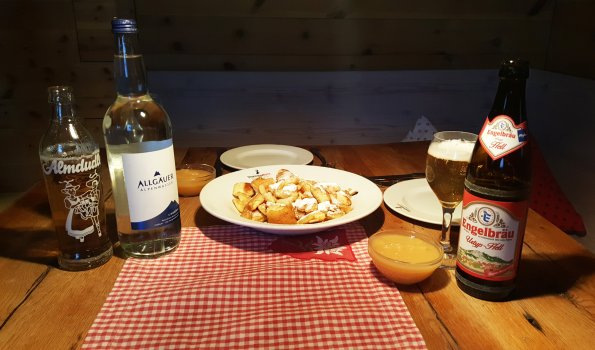 Kaiserschmarn Essen beim Sportheim Böck