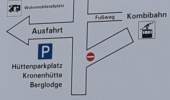 Schild Parkplatz
