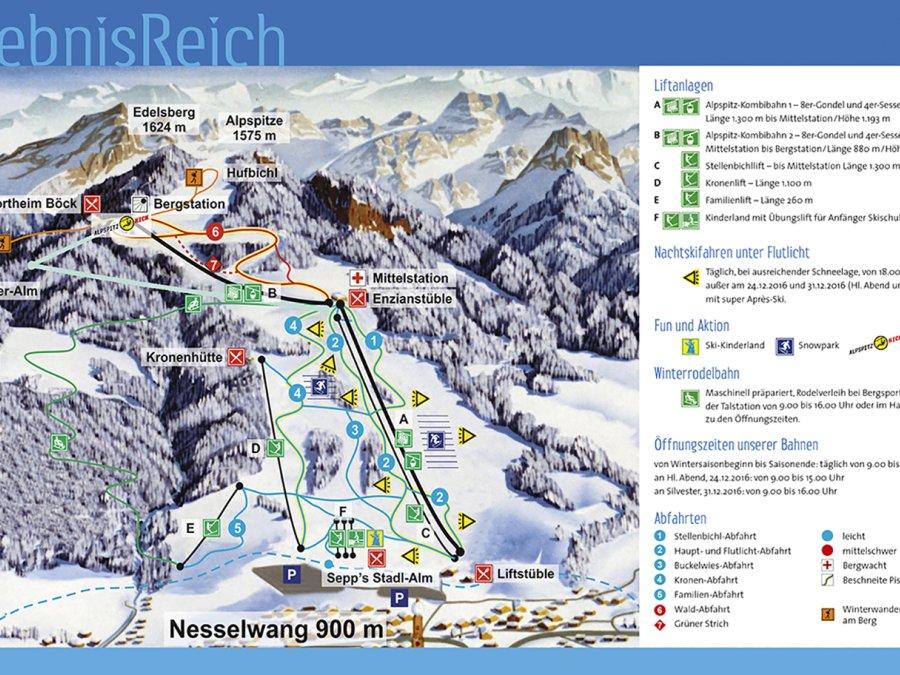 Pistenplan Alpspitze
