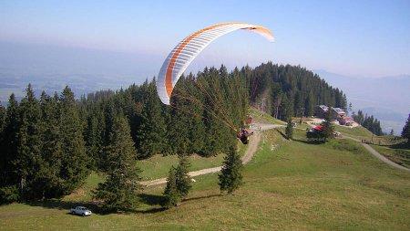 Gleitschirmfliegen an der Alpspitze
