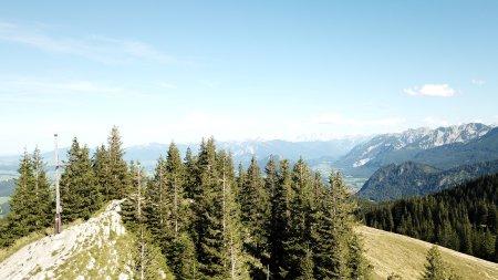 Ausblick von der Alpspitze in Nesselwang beim Wandern