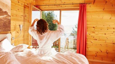 Guten Morgen - was für eine traumhafte Aussicht auf die Berge!