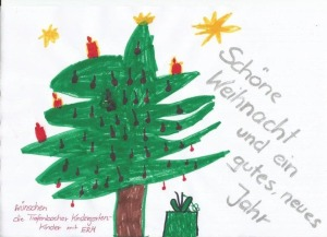 Weihnachtsgrüsse aus dem Kindergarten St. Barbara