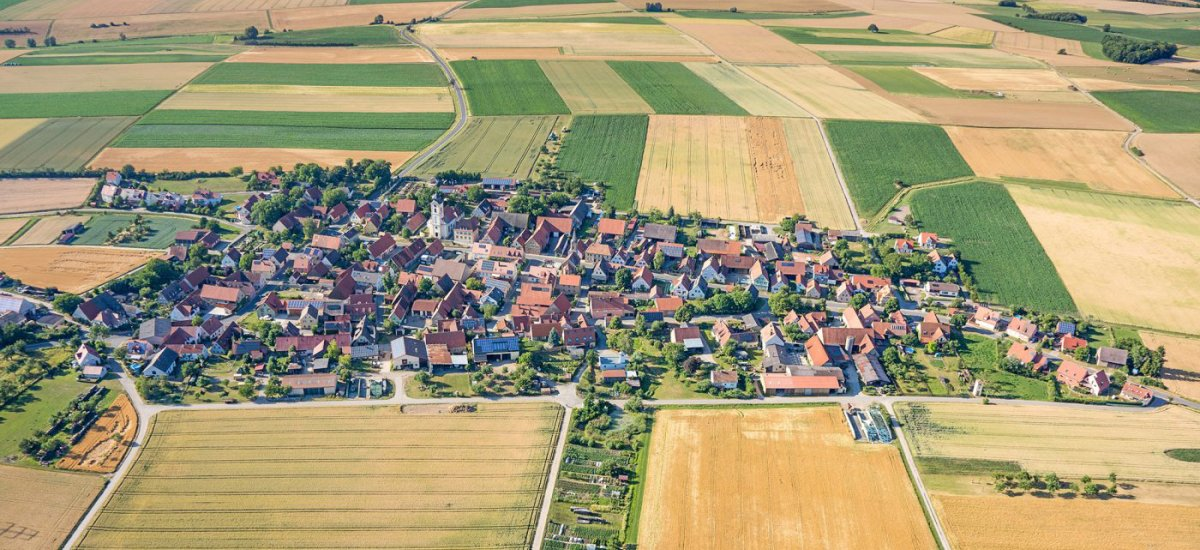 Luftaufnahme von Dornheim