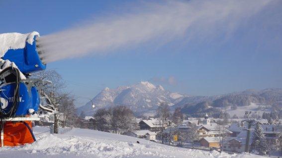 Schneekanone - ab 0°C schneesicher!
