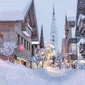 Schneegestöber in Oberstdorf