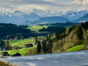 Allgäuer Alpen von Hüttenberg aus