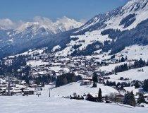 Blick auf Riezlern, Oberstdorfer Berge im Hintegrund