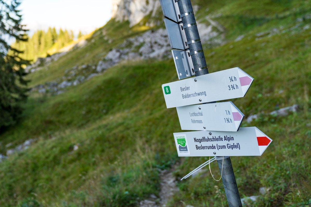 Klettersteig Besler : Von grasgehren auf den besler