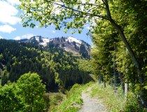 Wanderweg mit Blick in die Berge