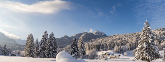 Wintermorgen in Oberstdorf