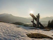 Letzte Sonnenstrahlen über Oberstdorf