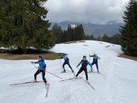 Training trotz wenig Schnee