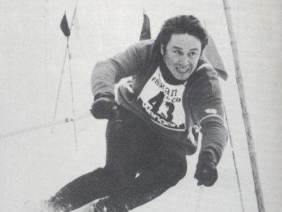 Nationalmannschaftmitglied, Rudl Schalber beim Lauberhornrennen 1968