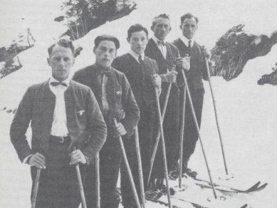 Die Siegermannschaft von 1923/24/25 von links nach rechts Luis Herz, Eduard Blanz,Albert Brutscher, Simon Blanz, Adalbert Maier