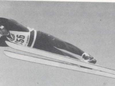 Alois Haberstock beim Ausscheidungsspringen für die Winterolympiade 1964