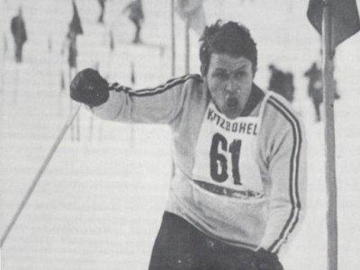 Olympiateilnehmer Dieter Fersch beim Hahnenkammrennen 1968