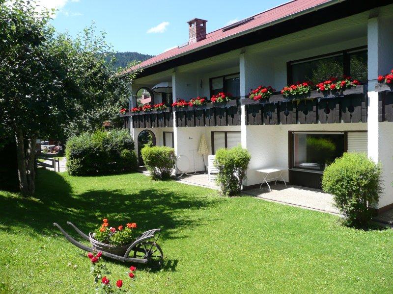 Garten der Ferienwohnung Rosi