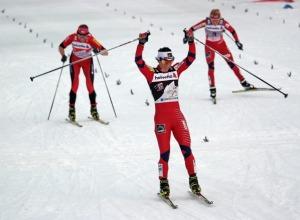 Die strahlende Siegerin Marit Björgen