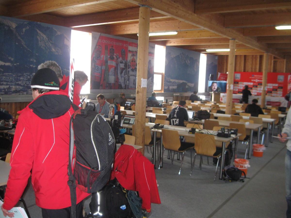 Pressezentrum Tour de Ski