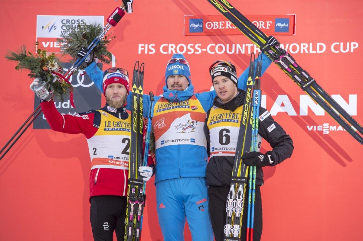 Siegerehrung Skiathlon Herren