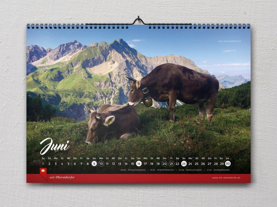 Wir Oberstdorfer Kalender