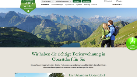 Bergwelt Website