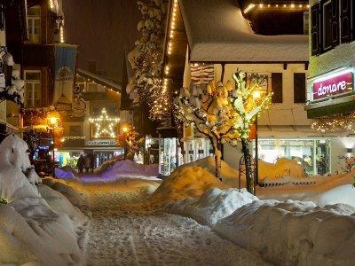 Kirchstraße im Schnee