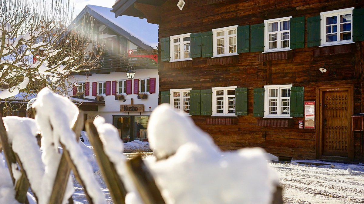 Heimatmuseum im Schnee