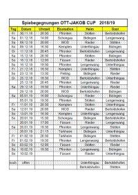Spielplan OTT-Jakob CUP GESAMT 18 19