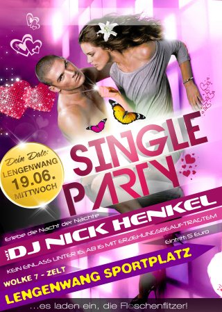 Single Party Plakat 2019 Din-A3