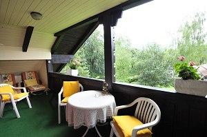 Wohnung 1 - Balkon mit Ausblick