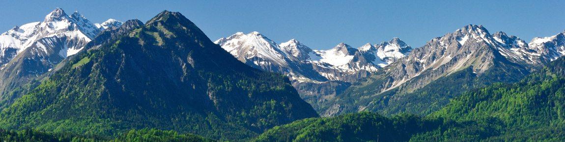 Blick von Rubi in die Oberstdorfer Berge