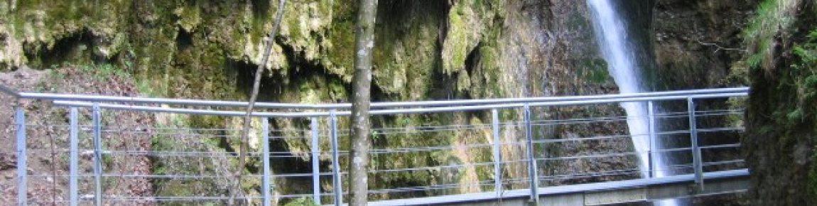 Steg am Hinanger Wasserfall